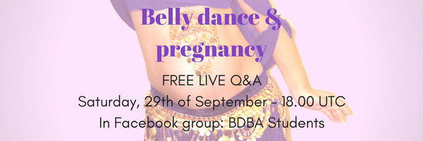 Belly dance & pregnancy banner